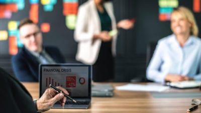 sales training program financial crisis review