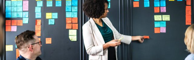 woman leading sales training program workshop